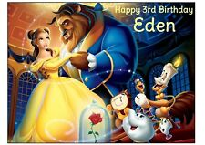BEAUTY and the Beast Edible cake decoration topper sheet image Belle party