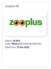BUONO SCONTO ZOOPLUS 25€ (prodotti per cani, gatti, uccelli, cavalli ecc...) GER