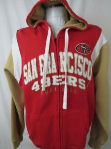 San Francisco 49ers Mens Medium Embroidered Full Zip Hooded Sweatshirt ASNF 182