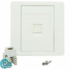 RJ45 Network LAN Cat 5e 1 Port Faceplate Single Gang Wall Socket & Keystone Jack