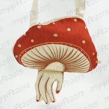 Vintage Muchacha ahcahcum wind mushroom Shoulder Bag canvas Harajuku unique only