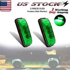 2x Green LED Side Marker Lights Waterproof 3.9