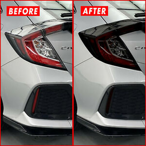 FOR 16-21 Honda Civic Hatchback Tail Light & Reflector SMOKE Precut Vinyl Tint