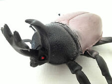 Vintage Rhino Beetle Toy Soft Plastic Rubber Rare HTF