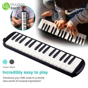 Melodica 32 Piano Keys Pianica Musical Instrument with Black Carrying Bag