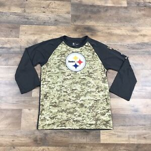 Pittsburgh Steelers Nike Salute To Service Shirt Boys Youth XL 3/4 Sleeve NFL