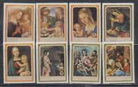 Burundi 1968 Christmas Paintings Sc 265-68, C93-96  Complete Mint Never Hinged