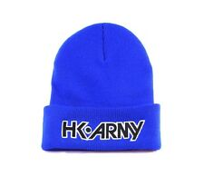 New HK Army Paintball Beanie - Blue with Black Typeface