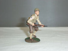 BRITAINS 25002 US ARMY AIRBORNE GLIDER INFANTRY ADVANCING METAL TOY SOLDIER