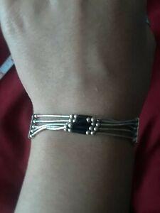 Sterling Silver Liquid Bracelet