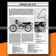 ★ HONDA CB 125 TWIN T / T2 ★ 1978 Essai Moto / Original Road Test #a178