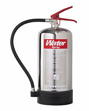 COMMANDER 6 LITRE (6L/6LTR) CHROME WATER FIRE EXTINGUISHER HOME/OFFICE - WSEX6SS
