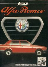 Alfa Romeo Autocode Supplement 1980-81 UK Brochure Alfasud Giulietta Alfetta GTV