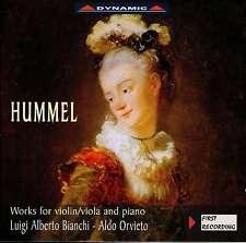 HUMMEL  works for violin/viola & piano BIANCHI - ORVIETO