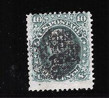 Scott #96, Single 1868 George Washington 10c AVG Used