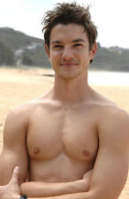 Shirtless Cute Beach Facial Stubble Bare Chest Male PHOTO Pinup 4X6 Pic P590