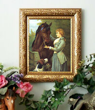 Thoroughbreds Sidesaddle Horse Victorian Art Print Vintage Style Framed 11x13