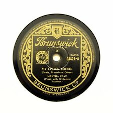 """MARTHA RAYE """"My Little Cousin / Oh! The Pity Of It All"""" (EE+) BRUNSWICK [78 RPM]"""