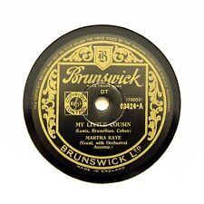 """MARTHA RAYE """"Il mio cuginetto/OH! la PIETA 'DI TUTTO"""" (EE +) 78 RPM Brunswick []"""