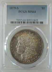 1879 S Morgan Silver Dollar - MS64 PCGS  Beautiful Heavy Golden Toning Obv & Rev
