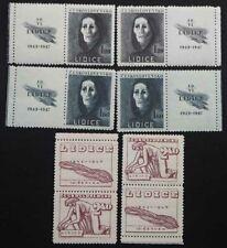 1947 Tschechoslowakei; kpl. Serie Zerstörung von Lidice, **7MNH, MiNr. 518/20