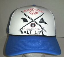 *NWT Salt Life Mesh Back Baseball Cap Polyester Blue White Size Fits Most