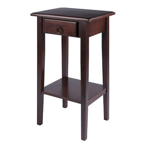 Winsome Wood Regalia Accent Table with drawer, shelf