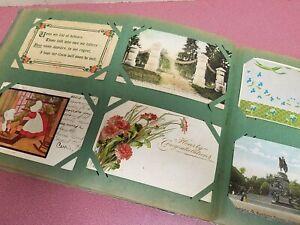 Antique Vintage Postcard Album 125 Postcards 1900's Xmas, Easter, Cities, Etc