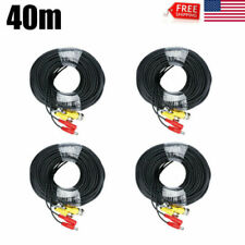 1~4x 132ft Security Camera Video Dc Power Cable Bnc Rca Cctv Dvr Extension Cord