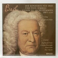 DAHLER DAXELHOFER GERBER MEYSTRE - BACH 3 & 4 harpsichords ctos CLAVES LP EX++