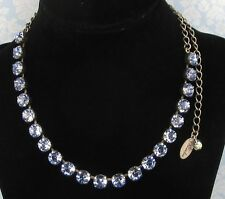 Cup Chain Necklace LIGHT BLUE SAPPHIRE CRYSTAL NECKLACE w/ Swarovski Crystals