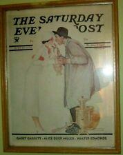 """Vintage Print Norman Rockwell """"Bargaining with Antique Dealer"""" frame"""