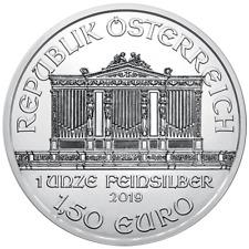 2019 1.50 Euro Silver Austrian Philharmonic 1 oz Brilliant Uncirculated