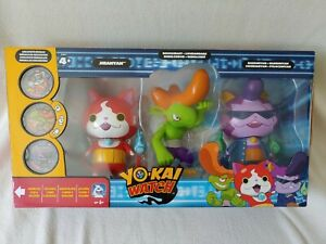 Yo-Kai Watch Vinyl Figures Jibanyan Roughraff Baddinyan Yokai Hasbro