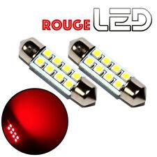 2 Ampoules navette c7w 39 mm 39mm 8 LED ROUGE Habitacle Plafonnier coffre sols