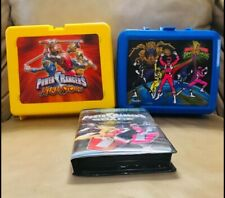 Vintage 1990 and 1993 Power Rangers Lunchboxes with Bonus VHS