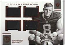 2016 Panini Encased  CONNOR COOK  Rookie QUAD Memorabilia  SP RC JSY  Oakland