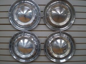 1955 CHEVROLET BEL AIR Wheelcover WHEEL COVERS Hubcaps OEM SET 55