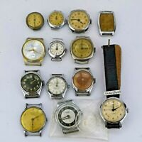 Lot of 13 Vintage 1940s-50s Watches for Parts or Repair inc 3 x Ingersoll (CH51)