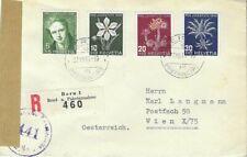 SCHWEIZ  - AUSGABE - BRIEF GELAUFEN 1946 mit  Zensurstelle !!!!!!