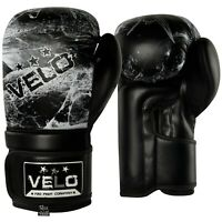 VELO Boxing Gloves Punch Training Mitts Sparring Muay Thai Gel Pad Gloves