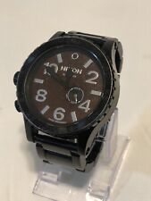 Nixon Simplify 51-30 Chrono Tide Black/Leather Face Stainless Men's Watch