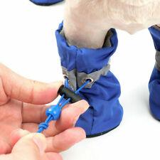 4Pcs/set Dog Boots Shoes Anti Slip Waterproof Puppy Small Pet Soft Rain Boots TK