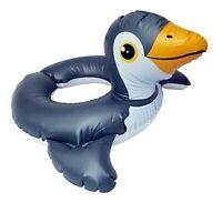 Float Pool Raft Penguin Split Ring Inflatable for Kids Summer Swim Fun