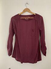 Ladies Top Atmosphere 16 Purple Long Sleeve Casual Cotton Blend <JS2470