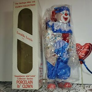 The Heritage Mint love  Clown Collection Lovable Louie, 1989,
