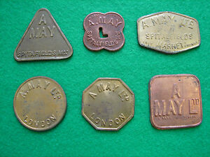 London Market Token A May 2 Shillings Round Global Shipping