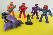 Halo Mega Bloks 6 piece miniature lot Spartan Elite Covenant ghost vehicle