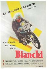 "1956 Milano-Taranto Race, Bianchi sales advertisement 9"" X 12"" repro poster"