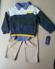 Nautica 3 pc set Boys Multi-colored  Sweater, Shirt an Pants size 6/9 month's